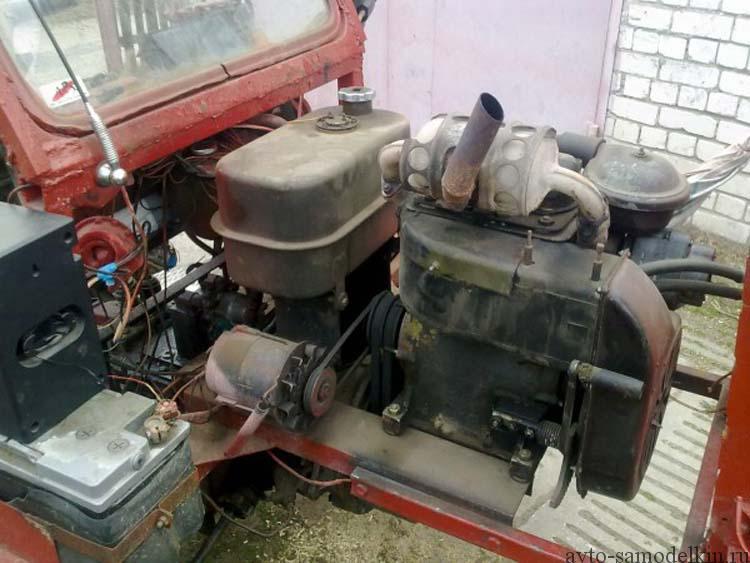трактор с двигателем уд-25