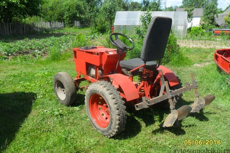 мини трактор самодельный фото