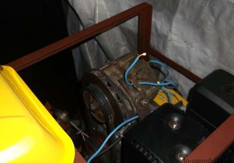 установка генератора на минитрактор