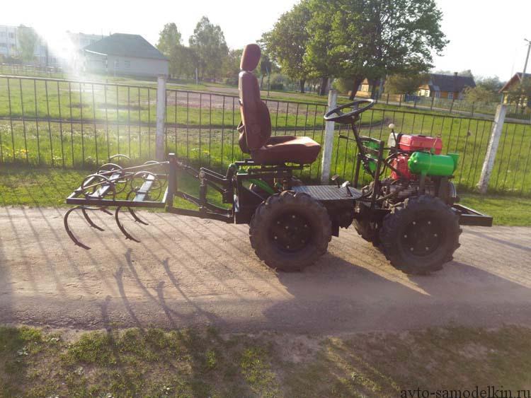 делаем мини трактор с переломной рамой