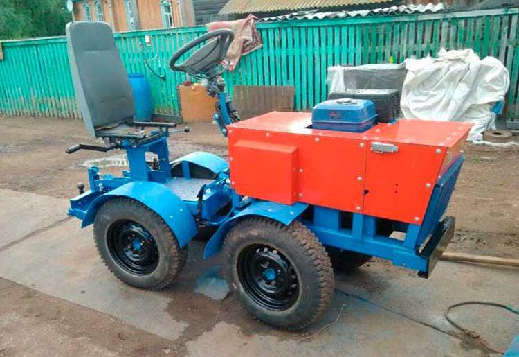 мини трактор переломка