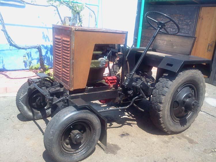 самодельный трактор с двигателем уд-2