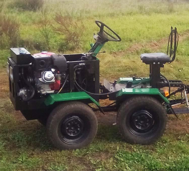 самодельный мини трактор фото