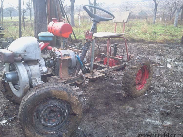 трактор самоделка