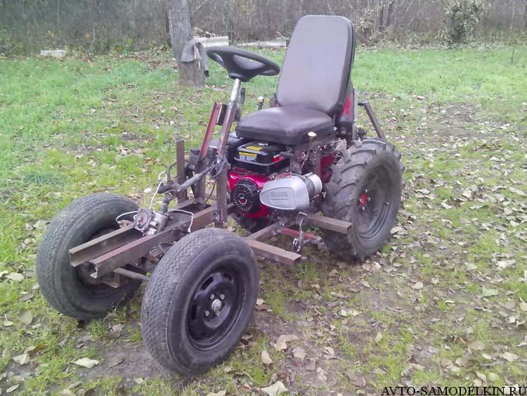 трактор сделанный из мотоблока мтз