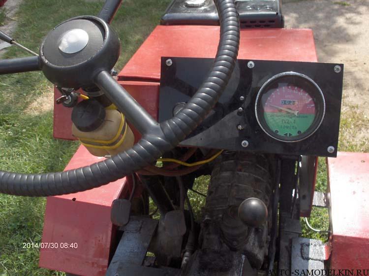 самоделка мини трактор