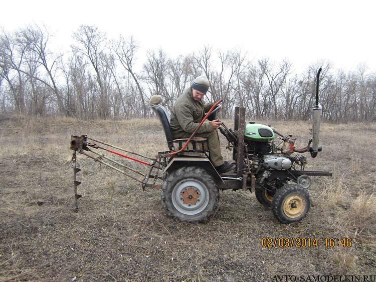 самодельный бур на трактор