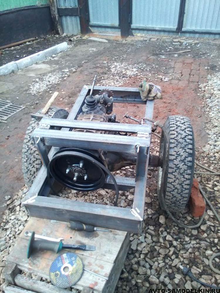 строим мини трактор