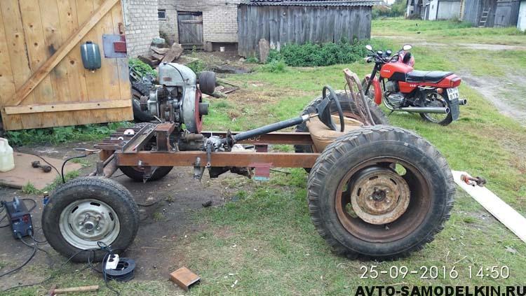 строю самодельный трактор