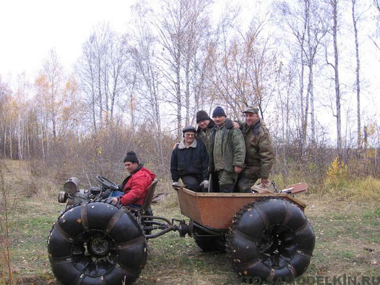 болотоход на шинах низкого давления