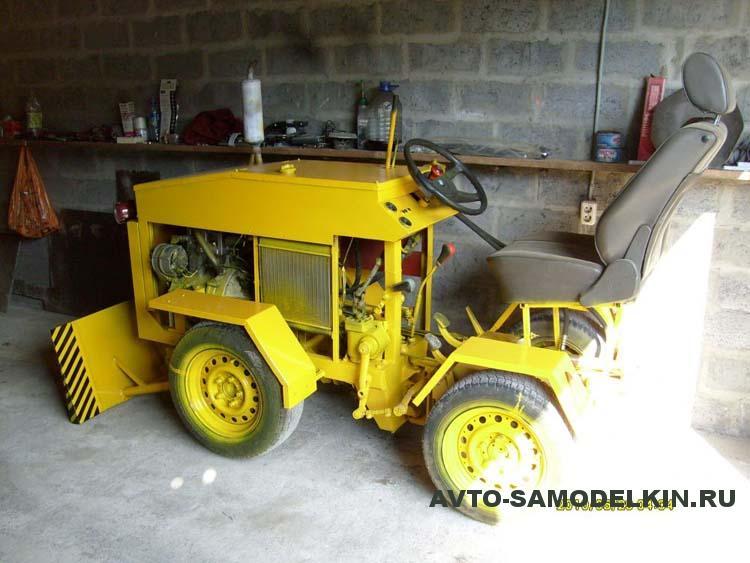 мини трактор самодельный
