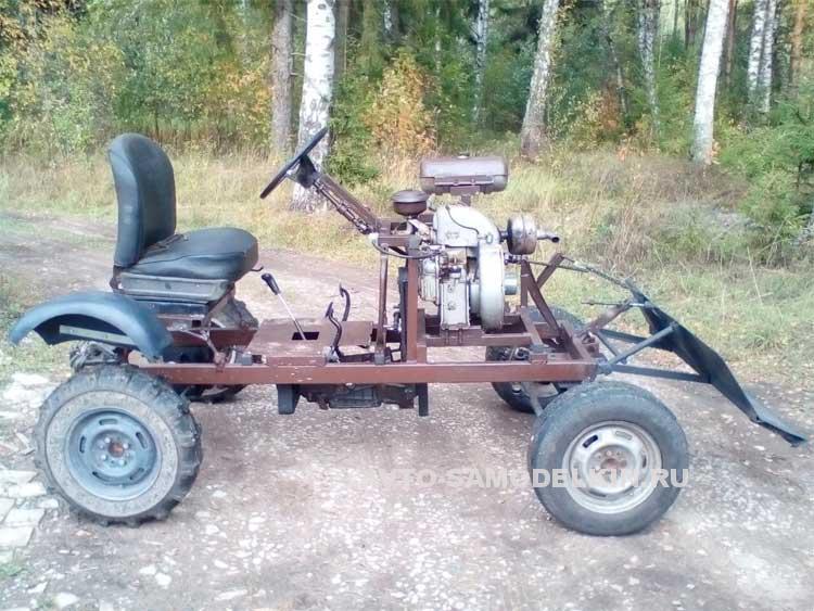 мини трактор с двигателем ЗИД