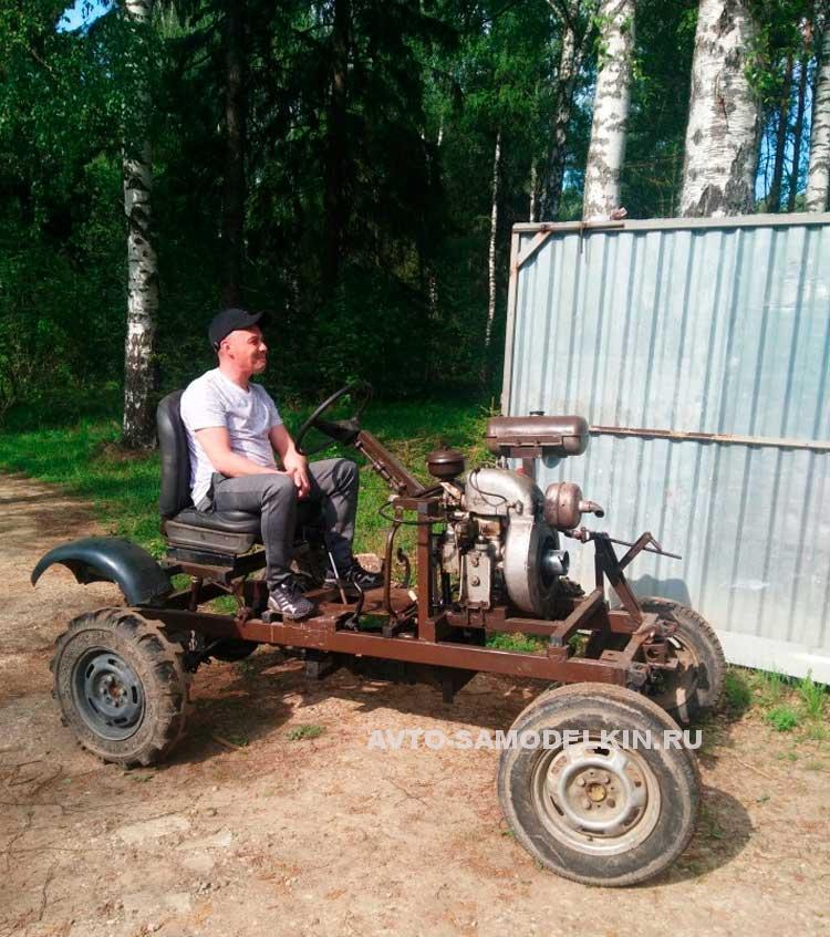 Самодельный мини трактор с двигателем ЗИД-4.5
