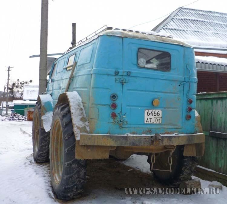 Самодельный вездеход с кузовом ЕрАЗ